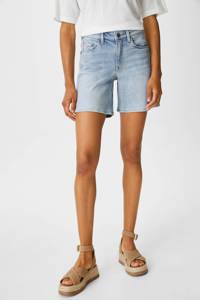 C&A straight fit jeans short lichtblauw, Lichtblauw