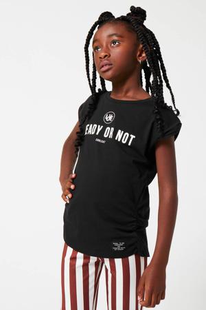 T-shirt Eloa met tekst zwart