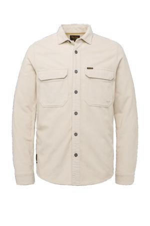 corduroy regular fit overhemd beige