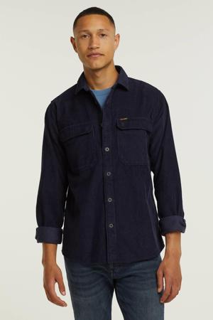 corduroy regular fit overhemd 5288 night sky