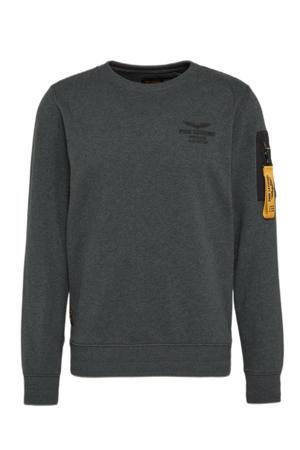 sweater met logo 996 antracite melee