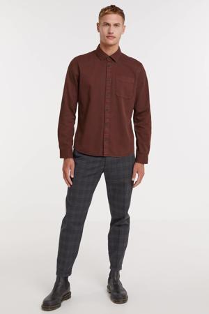 regular fit overhemd 8175 bruin