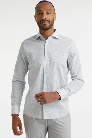regular fit overhemd met all over print lichtblauw