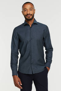Profuomo slim fit overhemd navy, Navy