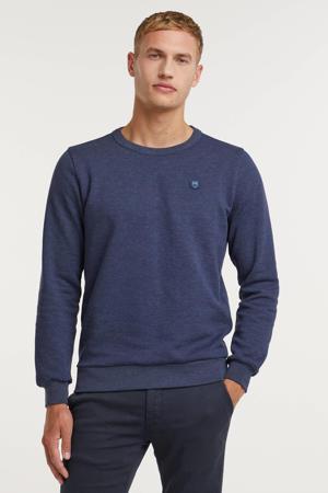 sweater Elm van biologisch katoen blauw melange