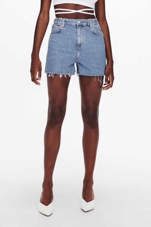 high waist jeans short JDYZIGGA light blue denim
