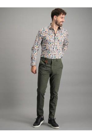 slim fit overhemd met all over print wit multi