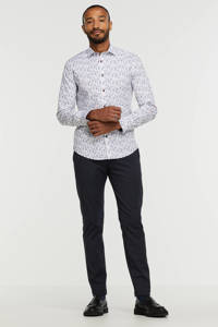 A fish named Fred slim fit overhemd met all over print 104-white, 104-White