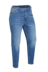 PIECES Curve cropped mom jeans PCKESIA dark blue denim, Dark blue denim