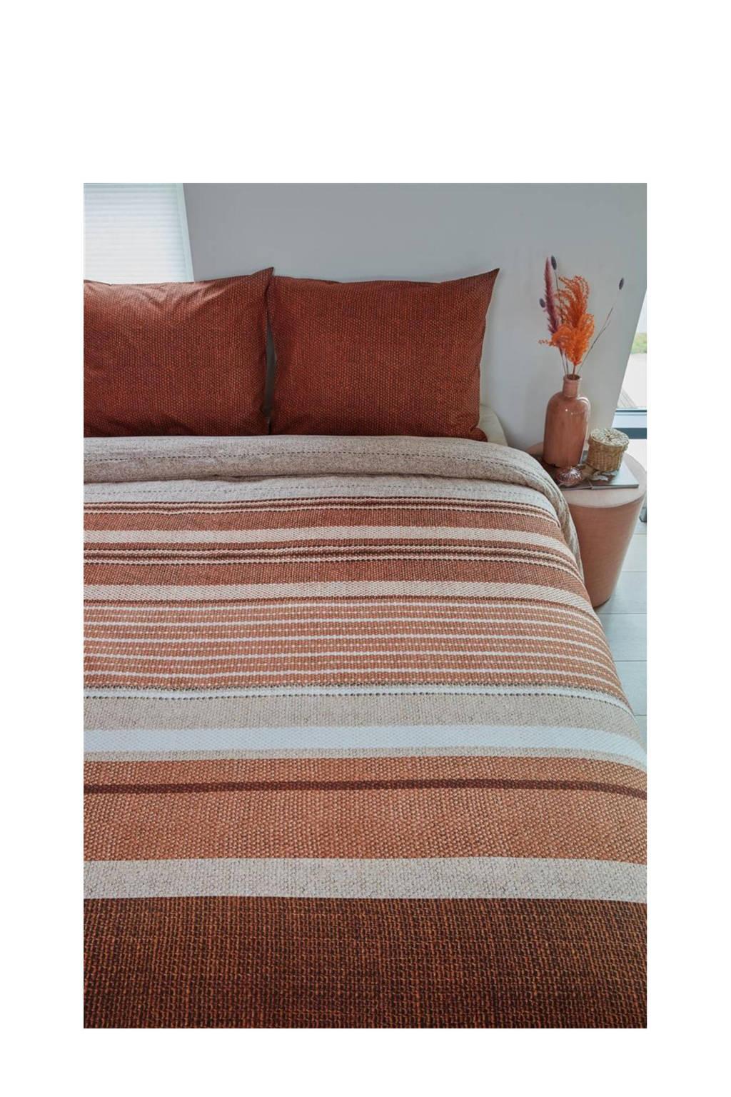 Beddinghouse katoenen dekbedovertrek lits-jumeaux, Lits-jumeaux (240 cm breed), Rood