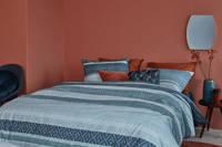 Beddinghouse katoenen dekbedovertrek 1 persoons, 1 persoons (140 cm breed), Blauw
