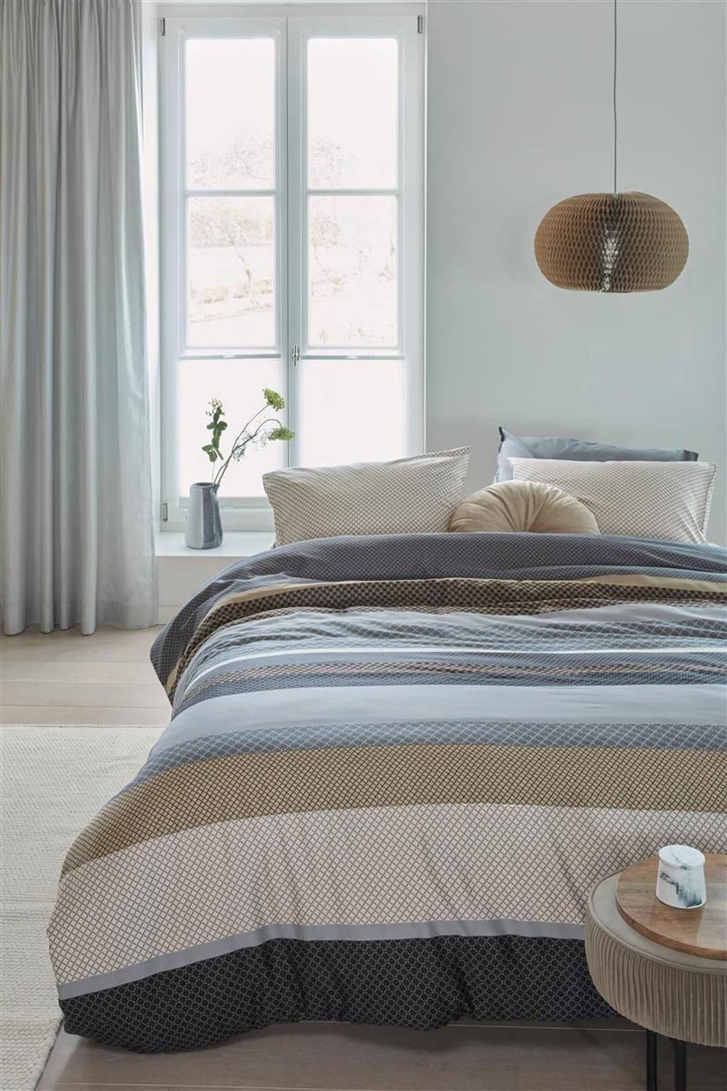 Beddinghouse Katoen-lyocell dekbedovertrek lits-jumeaux, Lits-jumeaux (240 cm breed), Grijs