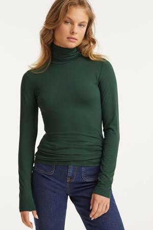 longsleeve top met col groen