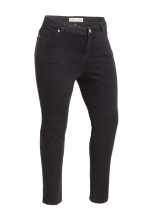 high waist slim fit jeans Lexi zwart