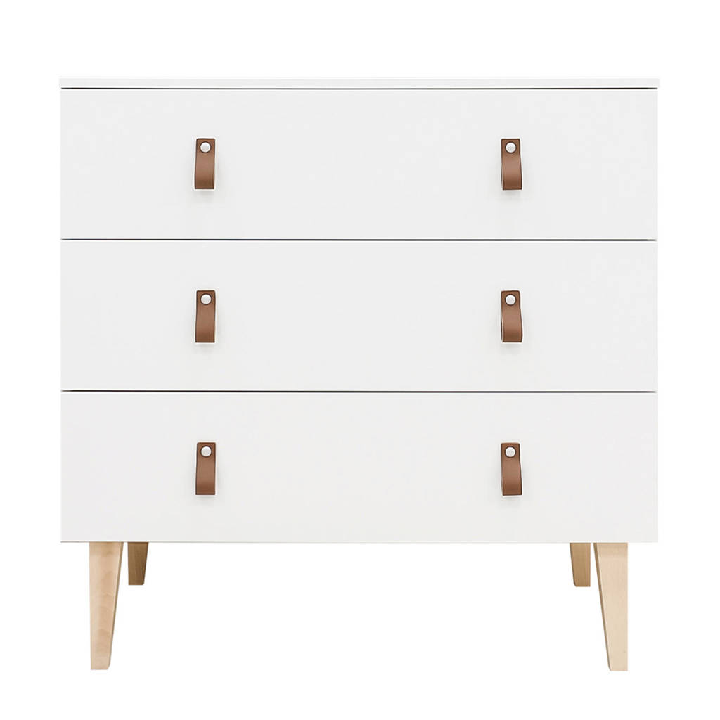 Bopita commode Indy wit, Wit/leer