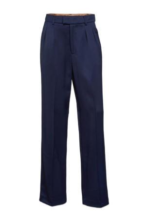 straight fit pantalon donkerblauw