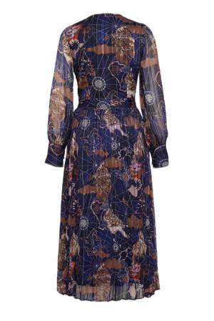 jurk van gerecycled polyester blauw