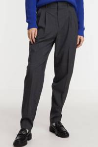 Scotch & Soda gemêleerde high waist tapered fit pantalon grijs, Grijs