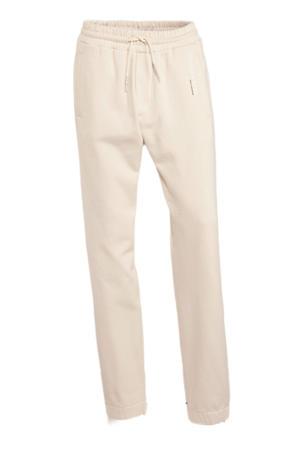 straight fit broek van biologisch katoen gebroken wit