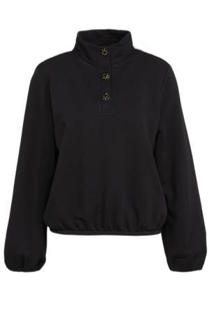 trui met biologisch katoen zwart