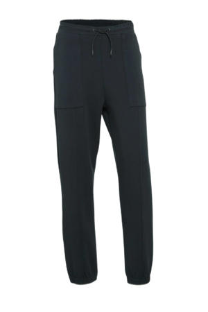 straight fit joggingbroek zwart