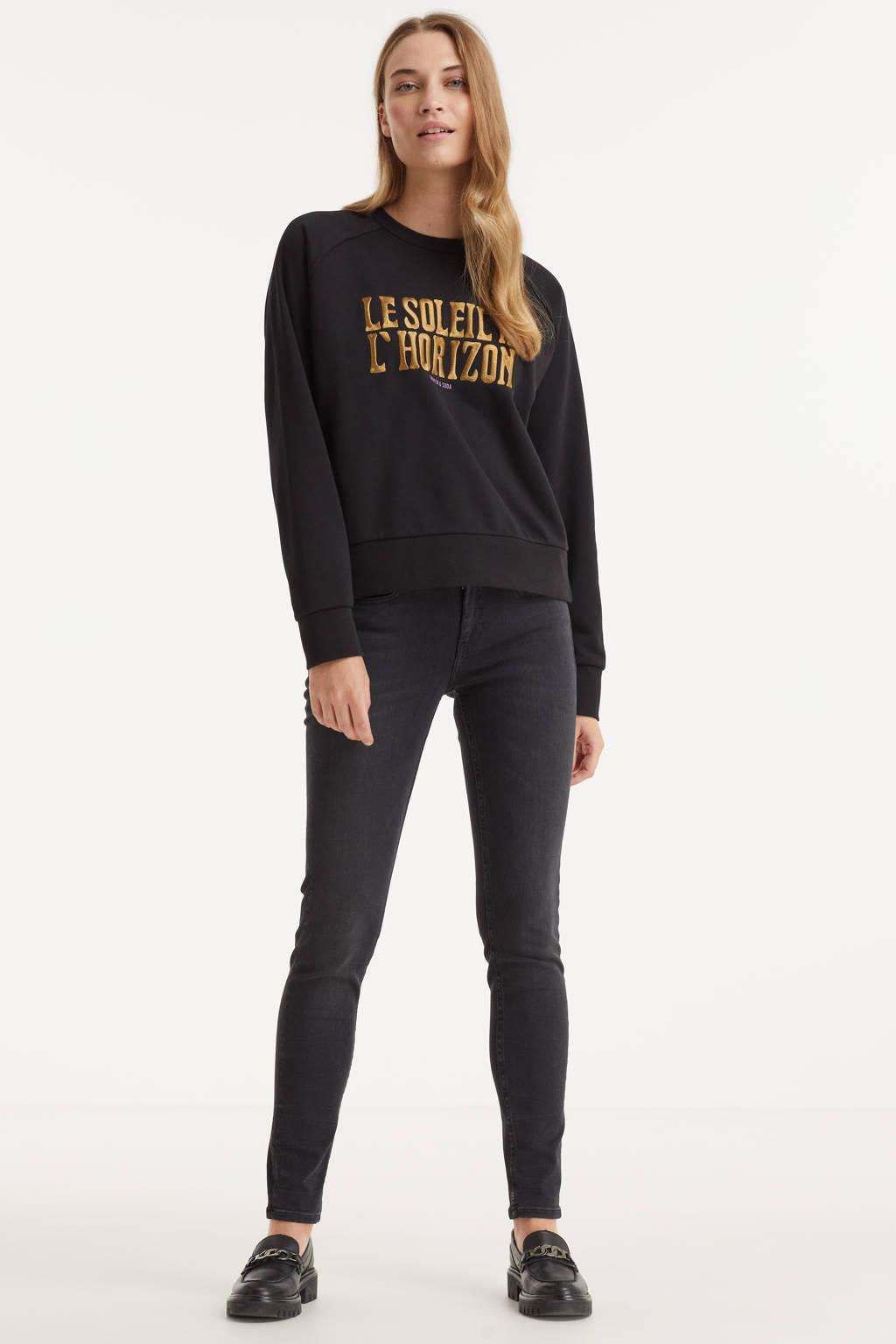 Scotch & Soda skinny jeans Bohemienne zwart, Zwart