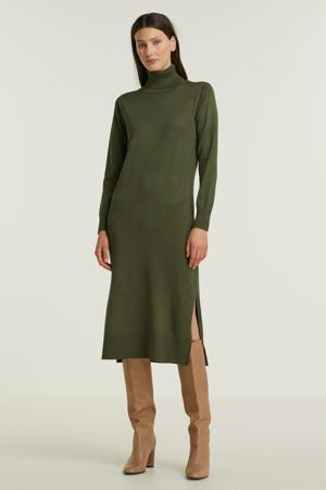 fijngebreide jurk MilaSZ groen