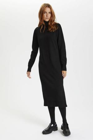 fijngebreide jurk MilaSZ zwart