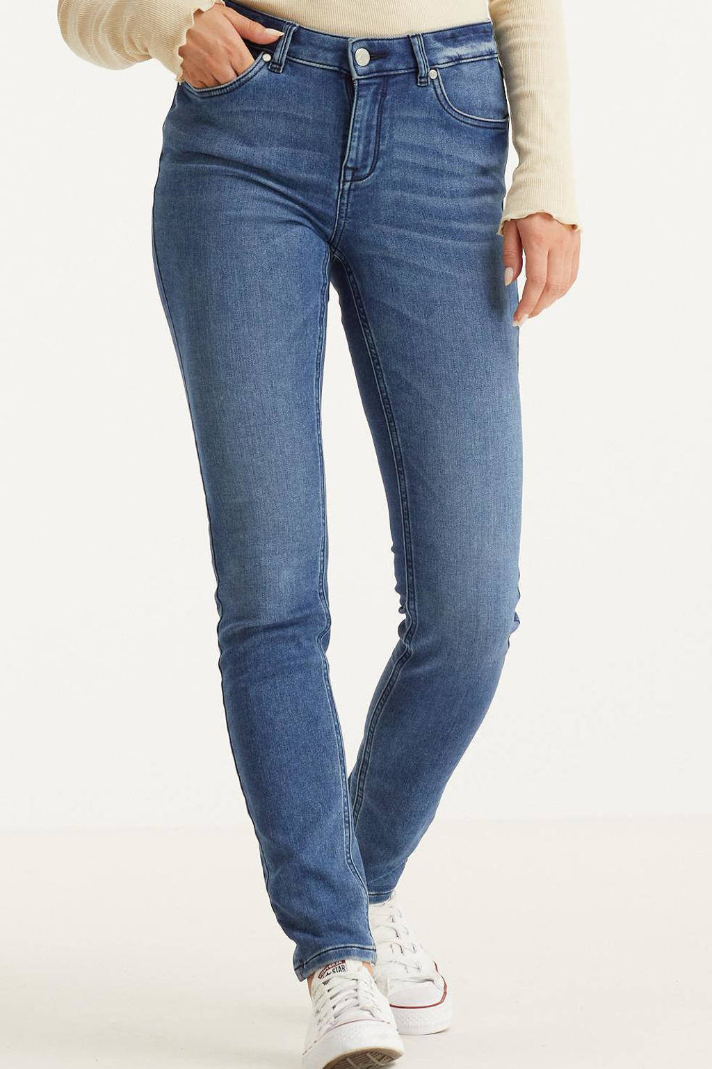 anytime slim fit jeans blauw, Blauw