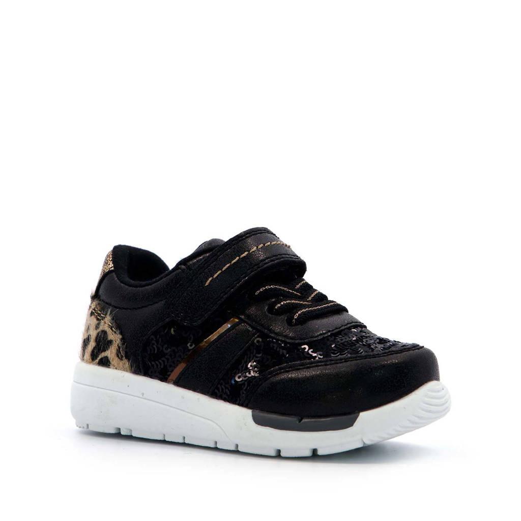 Scapino Blue Box   sneakers met panterprint zwart, Zwart/bruin