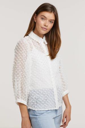 blouse Bowie met textuur ecru