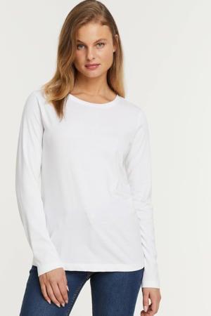 longsleeve t-shirt wit