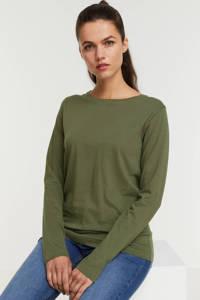 anytime longsleeve t-shirt kaki, Kaki groen