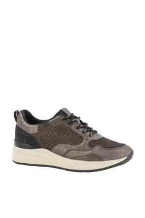 sneakers zwart/brons