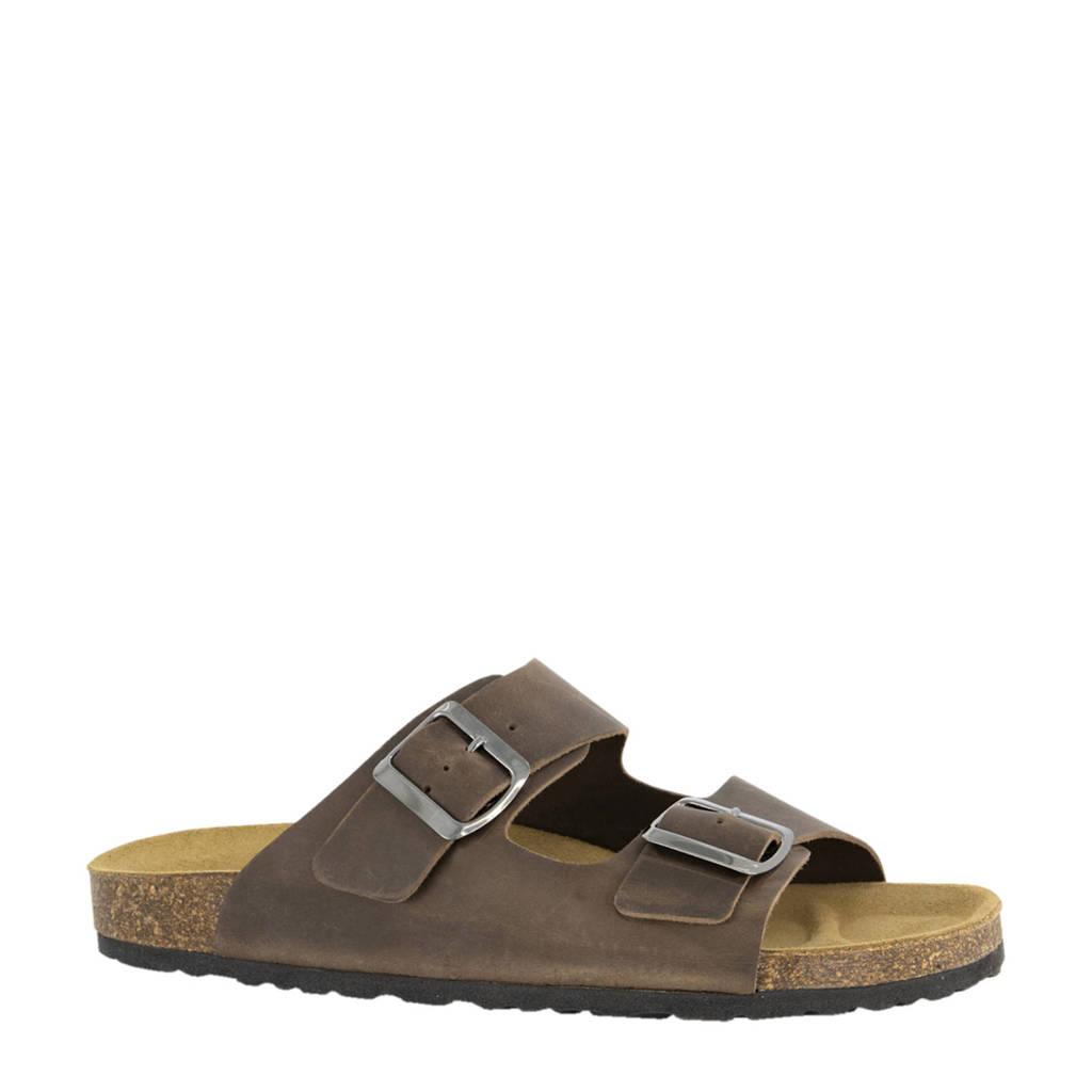 Easy Street   leren slippers bruin, Bruin