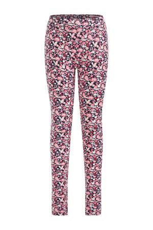 gebloemde legging roze/blauw