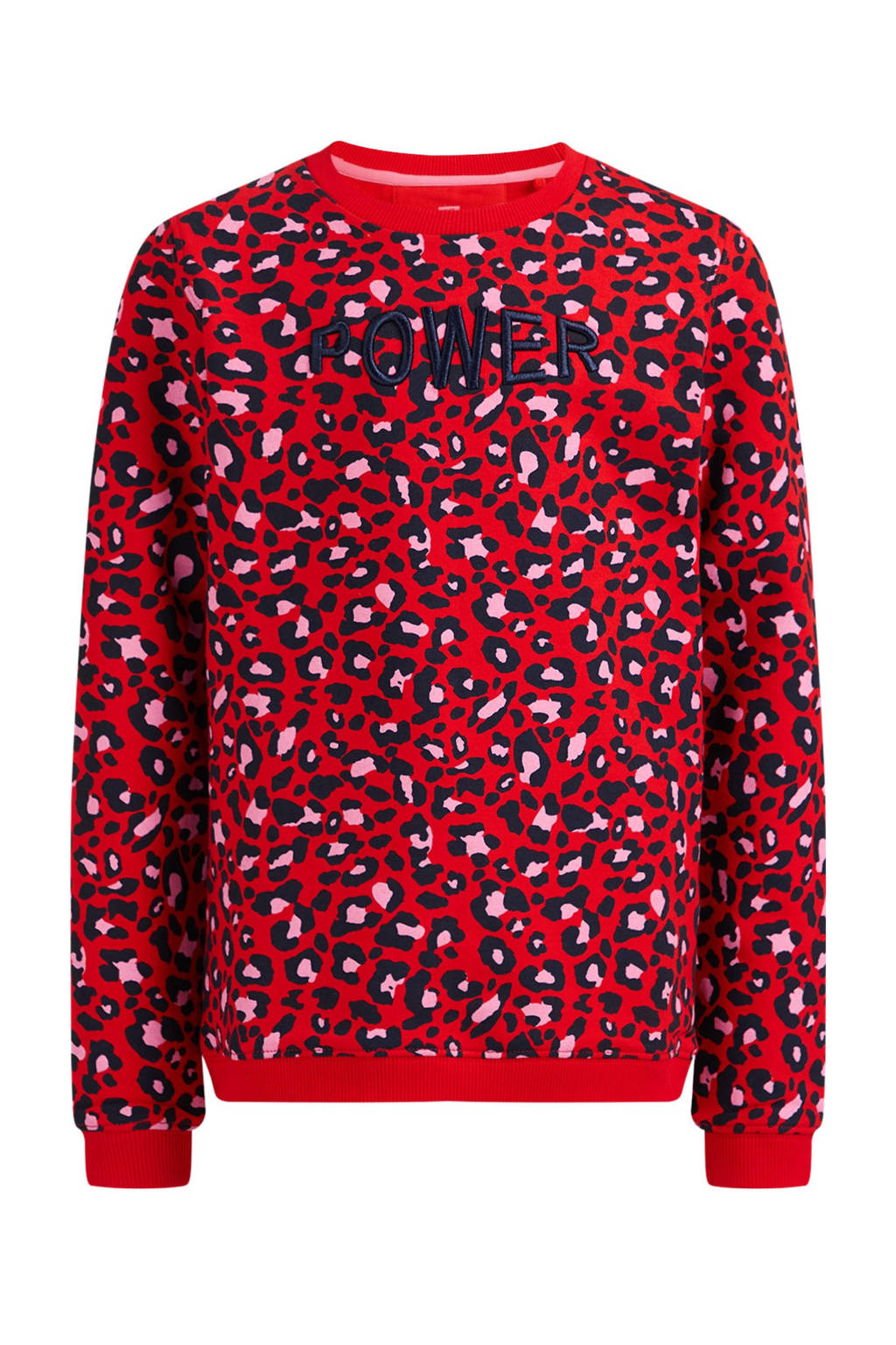 WE Fashion sweater met all over print rood, Rood