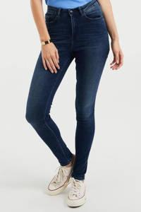 WE Fashion Blue Ridge high waist skinny jeans dark blue denim, Dark blue denim
