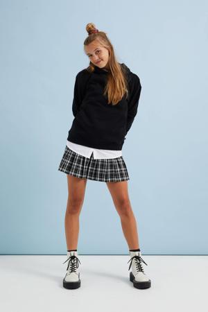 geruite rok zwart/wit