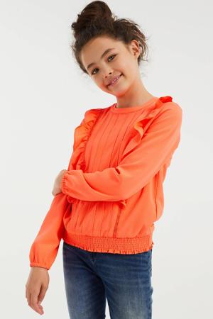 top van gerecycled polyester oranje