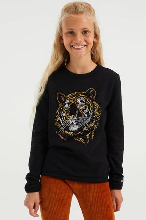sweater met printopdruk black uni