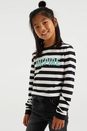 gestreepte sweater zwart/wit/blauw