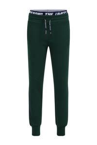 WE Fashion slim fit joggingbroek met tekst shade green, Shade Green