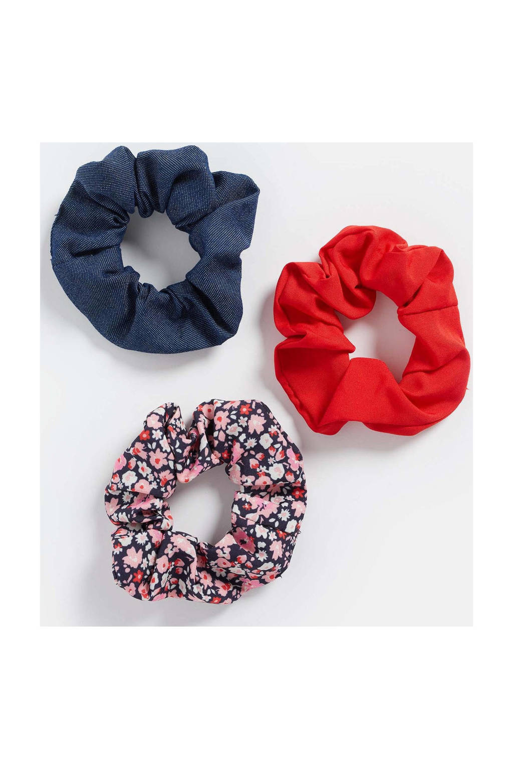 WE Fashion scrunchies - set van 3 multi, Multi