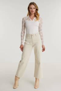 Rosemunde blouse met zijde ecru, Ecru