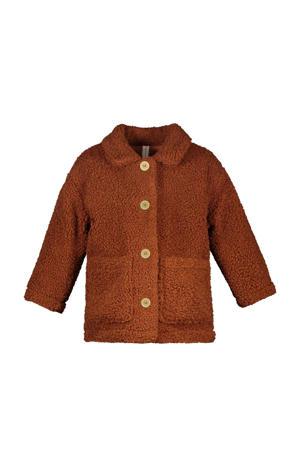 teddy jas van biologisch katoen bruin