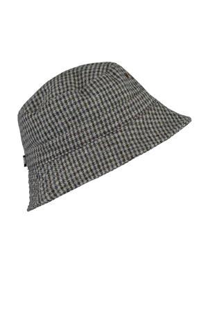 bucket hat donkergroen/grijs