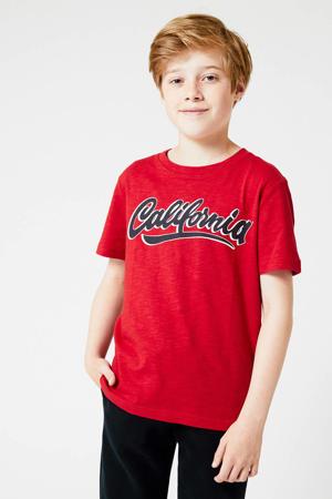 T-shirt Esso van biologisch katoen rood