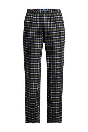 geruite pyjamabroek JACRIMON olijfgroen/donkerblauw