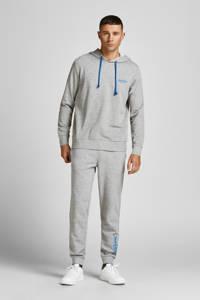 JACK & JONES hoodie + joggingbroek JACCHAP light grey melange, Light Grey Melange